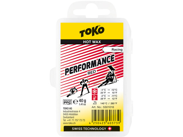 Toko Performance Gorący wosk Red 40g